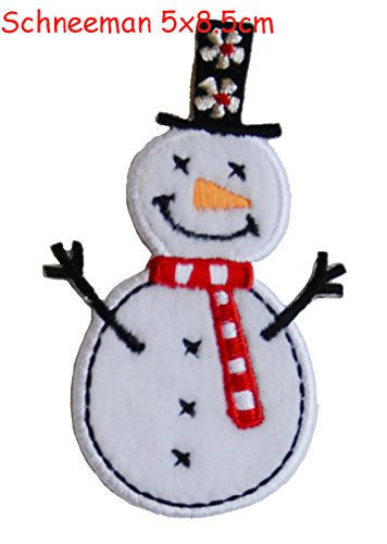 2-iron-on-appliques-set-snowman-5x9cm-and-lighthouse-4x9cm-embroidered-application-set-by-trickyboo-