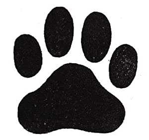 "Dog Rubber Stamp - Paw Print Large-358F (Size: 1-7/8"" Wide X 1-3/4"" Tall)"