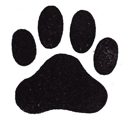 Dog Rubber Stamp - Paw Print Large-358F (Size: 1-7/8