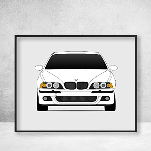 BMW M5 E39 5 Series (1998-2003) Poster Print Wall Art Decor Handmade M Power BMW M