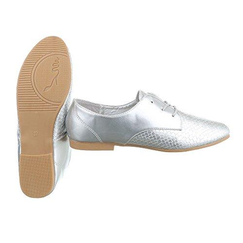 Flats Up Lace Design HS30 Women's Silber Ital 4qpHZ1