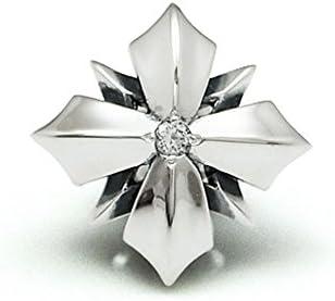 ダグダート(DAgDART)ラペルピン シルバー クロスデザイン誕生石 ピンブローチDK-079(8月:ペリドット)