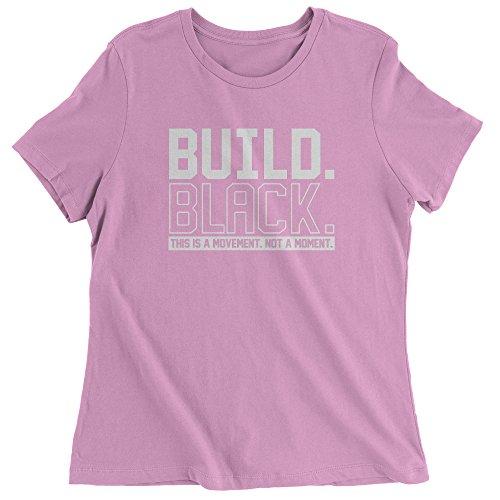 FerociTees Womens Build Black Sacramento Protest Movement T-Shirt X-Large Light -
