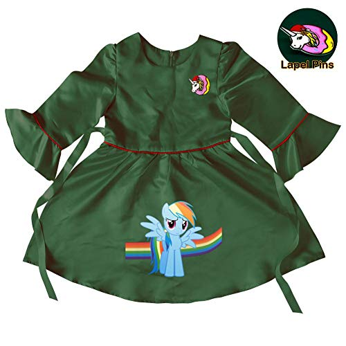 Baby Girls Rainbow-Unicorn Princess Christmas Dress up for Toddler Party Fancy/Formal Costume Gowns 4-5 Years