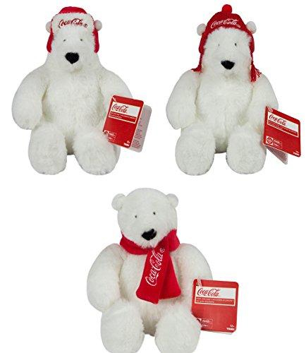 "Coca-Cola Tomy 6"" Bear Plush, 3 Pack Plush"