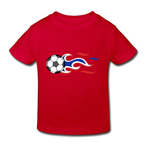 Soccer Clipart (Clipart Of A Soccer Ball With American Flag Fashion Toddler Short Sleeve Shirt -gift For Kids Red 3 Toddler)