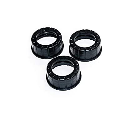 Open Road Brands 3 Pack Flexible Gas Can Spout Replacement with 6 Screw Collar Caps(Fits Most of The Cans), 6 Base Caps, 3 Stopper Cap and 3 Stainless Steel Filter/Flame Arrestor(Family Pack): Automotive