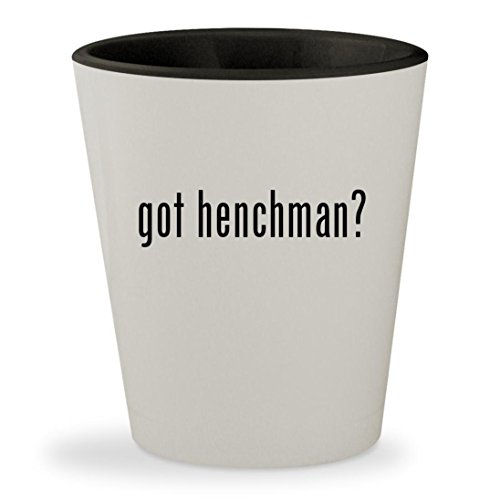 Joker Henchman Costume (got henchman? - White Outer & Black Inner Ceramic 1.5oz Shot Glass)