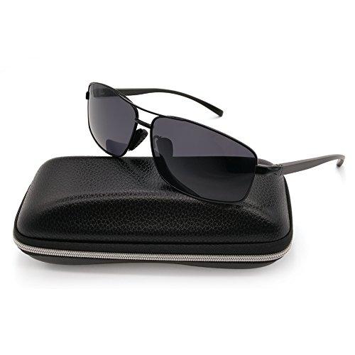 Polarized Sunglasses for Men Sports Driving Fishing Lightweight Rectangular Metal Frame 100% UV Protection