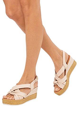 Compensées Next Asymétriques Chair Femme Chaussures Nouées qzzwH4I