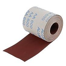MonkeyJack 10 Meters Emery Cloth Sandpaper 600 Grit Abrasive Cloth Roll for Sanding Wood Furniture Finishing