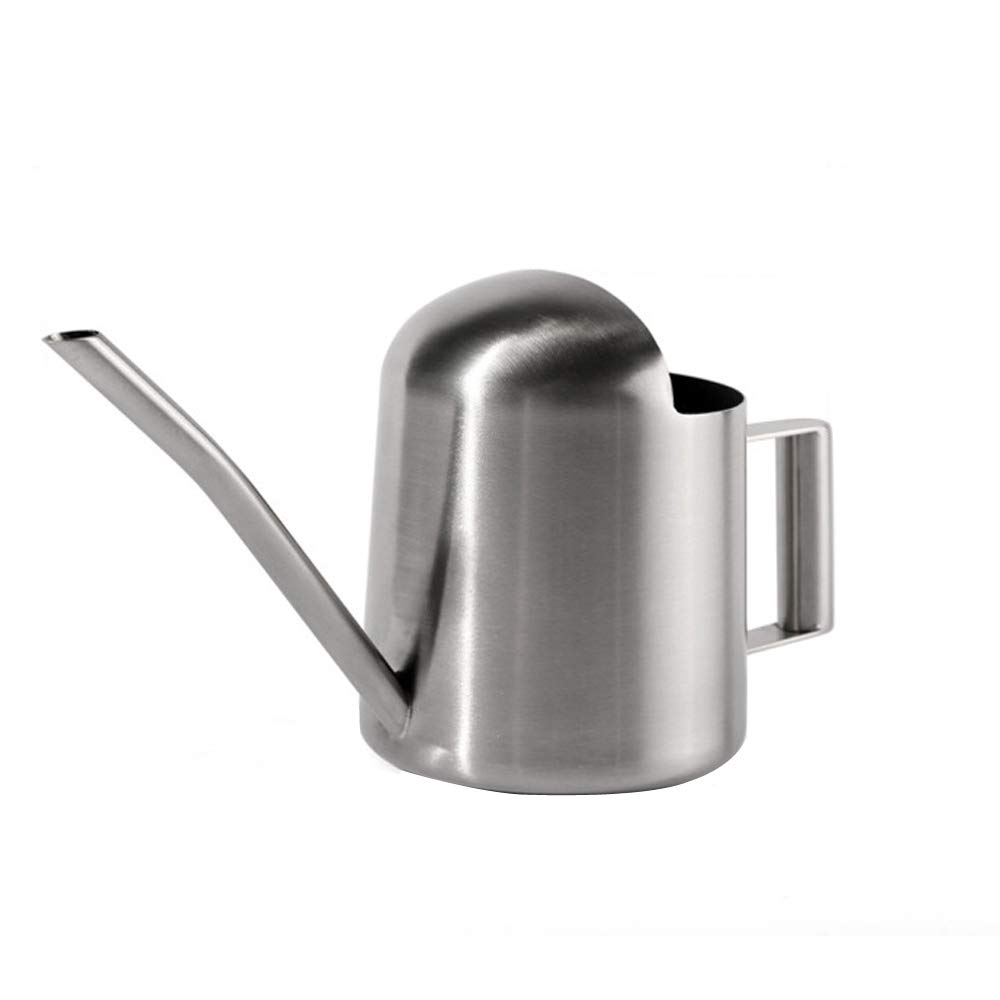 Calunce 8.20 Oz Modern Style Watering Pot Brushed Stainless Steel Watering Can