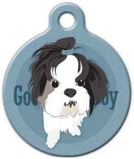 Custom Personalized Pet ID Tag for Dog and Cat Collars GREAT DANE ILLUSTRATED