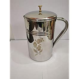 Brass Chain Stainless Steel Water Jug for 2000 ml Tableware Water Pitcher for 2 L with Mirror Polish
