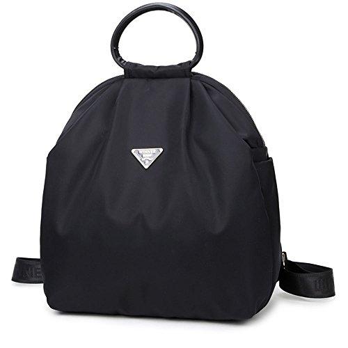 Uniui - Bolso mochila de nailon para mujer negro