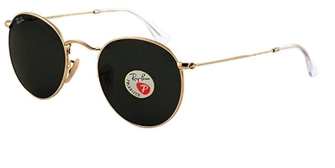 997b12aef9c Amazon.com  RB 3447 Sunglasses (Gold Frame Polarized Solid Black ...