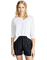 Vince Womens Relaxed LS Crew Tee