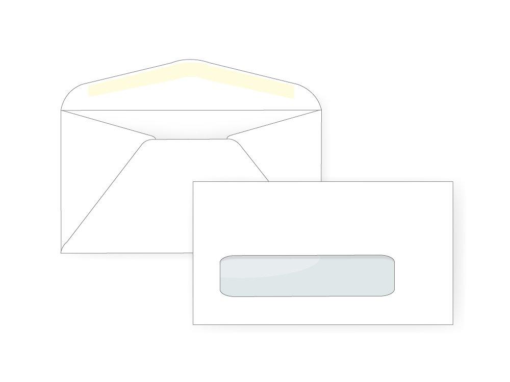 #6 3/4 Window Envelope - 24# White (3 5/8 x 6 1/2) - Window Envelope Series (Box of 500)