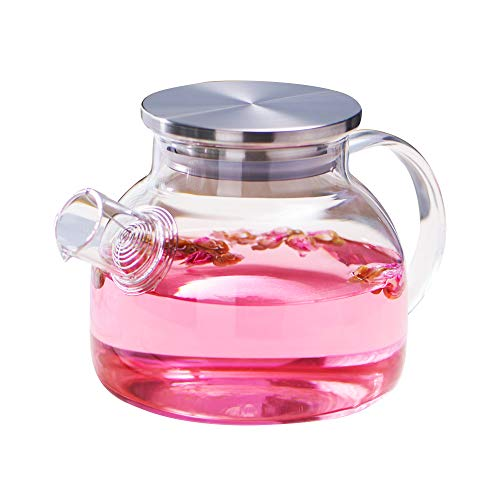 WarmCrystal, Large Glass Cool Water Kettle, Pitcher and Carafe, Great for...