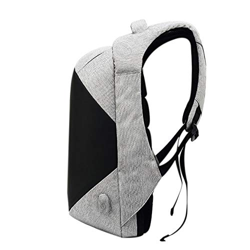 6 Backpack Mens Notebook Gray College Theft USB Backpack with Slim Laptop Water Anti Inch for Computer Daypack Business Schoolbag Fits Bag Resistant Light Port Zhuhaixmy Charging Resistant 15 gwqxpdg4