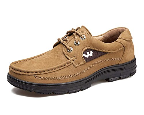 Leather Outdoor Khaki Sport Active up Casual Hiking Lace Trail Men Nubuck Shoes For Waliking 7O045Ax