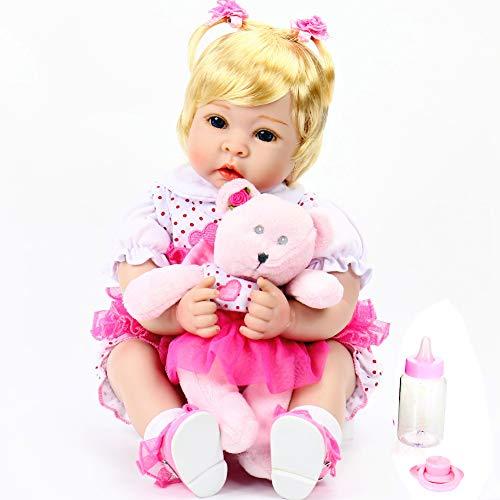 - Aori Lifelike Reborn Baby Girl Dolls Handmade 22 Inch Soft Vinyl Reborn Toddler Set for Girls Age 3