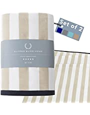 Alfred Sung Home Cabana Stripe Beach Towels