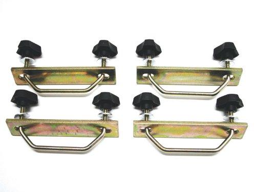 Brackets U-bolt - Rhino-Rack USA S280 U-Bolt Fitting Kit Attaches Rhino Mesh Baskets/Trays To Rhino Aero/Thule Aero/OE Bar U-Bolt Fitting Kit