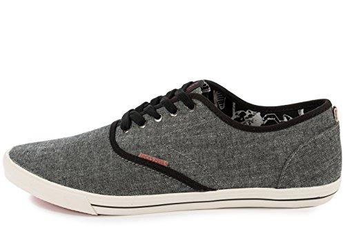 Jack & Jones Jjspider Chambray Sneaker, Men's Low-Top Sneakers Gray