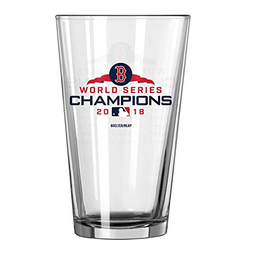 Official Red Sox 2018 World Series Champions 16oz. Summary Pint Glass - Great Gift/Collectible