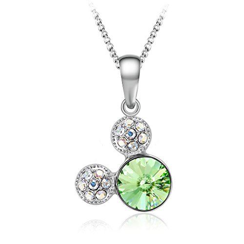 IUHA Single Cute Mouse Eye-Catching Sparkling Jewelry Necklace Made With Swarovski Crystal Birthstone For Women or Children or Girls Love Gift ()