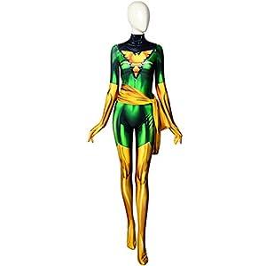 ourworth Dark Green Phoenix Cosplay Costume X-Men Jean Grey Bodysuit 41WmaoSMbQL