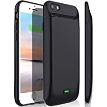 iPhone 6s/6 Battery Case, Stoon 5000mAh Portable Charger Case Rechargeable Extended Battery Pack Protective Backup Charging Case Cover for Apple iPhone 6s/ 6(4.7 Inch) (black)