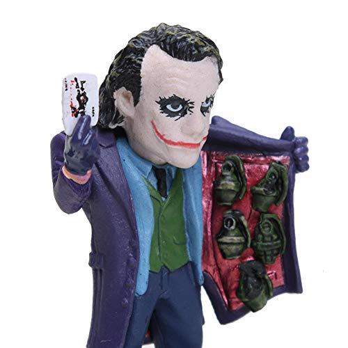 PLAYER-C 5Pcs/Set The Dark Knight The Joker Mini PVC Figures Collectible Model Toys