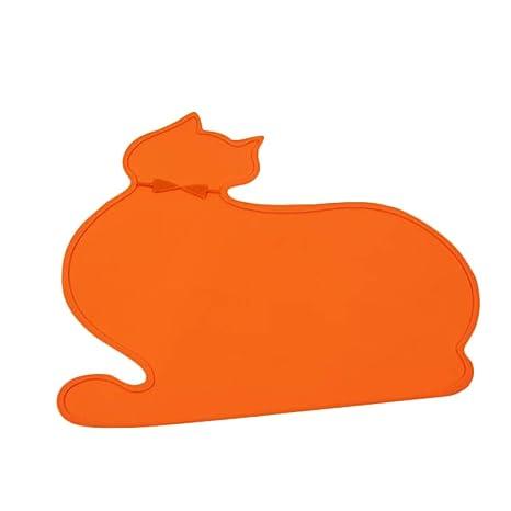 Hosaire 1x Pet Food Mat Tazón Impermeable no tóxico Tapetes ...