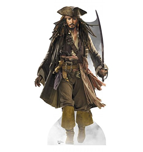 Halloween Character Cutouts (Captain Jack Sparrow - Disney's Pirates of the Caribbean - Advanced Graphics Life Size Cardboard Standup)