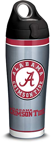 Bottle Alabama Insulated (Tervis 1309960 Alabama Crimson Tide Tradition Stainless Steel Insulated Tumbler with Black with Gray Lid, 24oz Water Bottle, Silver)