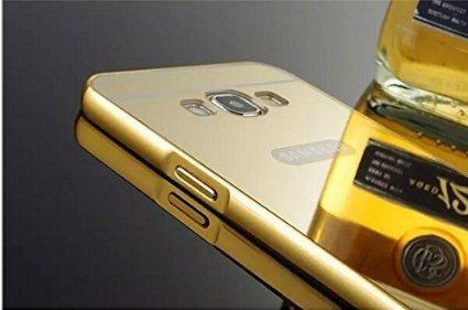 quality design 6b9cf 85c76 Badhiyadeal Luxury Metal Bumper Acrylic Mirror Back Cover Case For Samsung  J7 (2015) - Gold