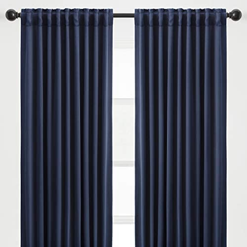 Chanasya 2-Panel Solid Contemporary Blackout Curtains - the best window curtain panel for the money