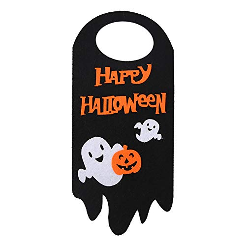 lightclub Happy Halloween Skull Ghost Pumpkin Hanging Door Tag Pendant Shopping Mall Decor,Customizable Personalised Cute Funny Door Signs for Office Ghost -