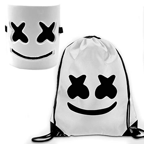 DJ Mask and DJ Backpack Music Festival Helmet Halloween Mask Prop Half Mask Halloween Costume Cosplay Mask White