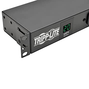 1U Rack-Mount Tripp Lite 1.9kW Single-Phase ATS // Switched PDU with LX Platform Interface 16 5-15//20R 2 L5-20P // 5-20P 12ft 120V Inputs TAA PDUMH20ATNET 120V Outlets