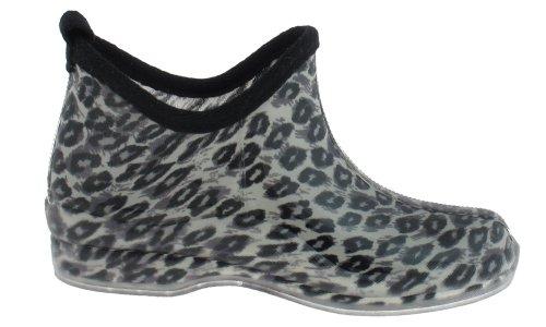 Capelli New York Blanka Skissartade Leopard Tryckta Damer Slip-on Gelé Bootie Kropps Grå Combo