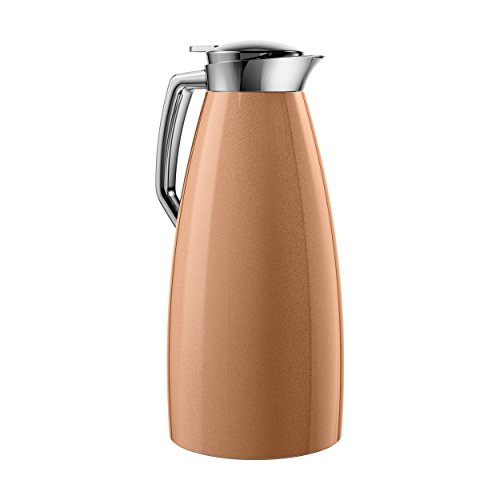 Emsa Plaza Vacuum Jug Quick Tip 1.5 L, Copper, Coffee, Tea Jug, Thermos Flask, 514377 by Emsa