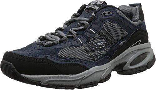 Skechers Sport Men's Vigor 2.0 Trait Memory Foam Sneaker, Navy/Grey, 10 M US (Mens Sketcher Sneakers)