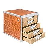 File Cabinet Aluminum Alloy Lock Drawer A4 Paper Data Cabinet Short Cabinet File Desktop Storage Cabinet