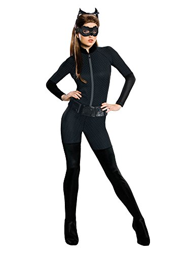Batman The Dark Knight Rises Adult Catwoman Costume, Black, -