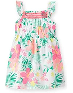 Floral Poplin Girls Dress