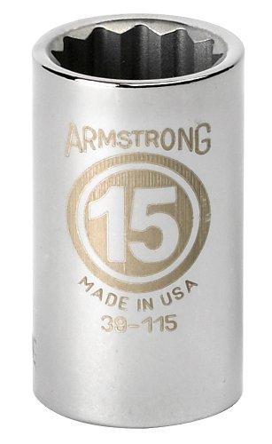 Armstrong 1/2 12P STD Socket, 16mm - Socket Armstrong Std