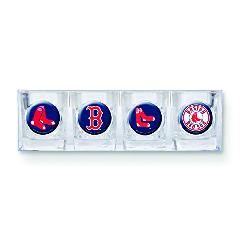 Roy Rose Gifts MLB Red Sox 4-piece Shot Glass Set - Gift Mlb Sox